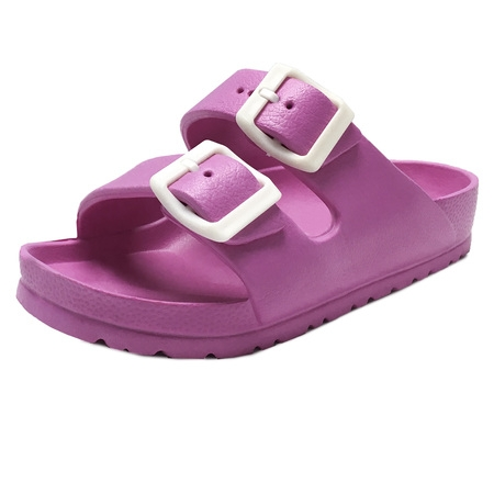 Kids Boy and Girl EVA Rubber Double Buckle Slides Comfort Footbed Light Weight Sandals (FREE SHIPPING)