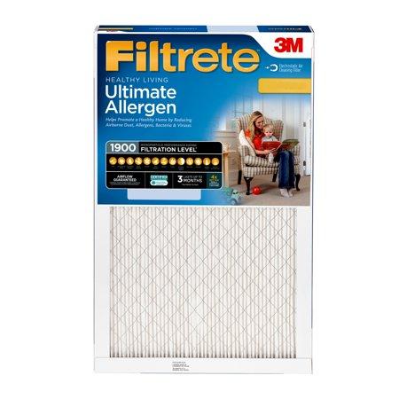 Filtrete 16x25x1, Healthy Living Ultimate Allergen Reduction HVAC Furnace Air Filter, 1900 MPR, 1 Filter Air Handler Furnace Filters
