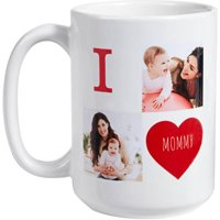 Personalized Filled With Love 15 oz Photo Coffee Mug, Choose from 3 Colors