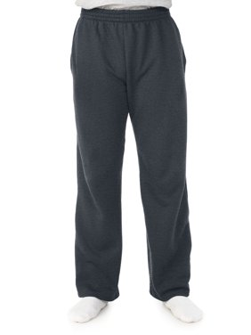 Big Men's Soft Light-Weight Fleece Open Bottom Sweatpant, with pockets