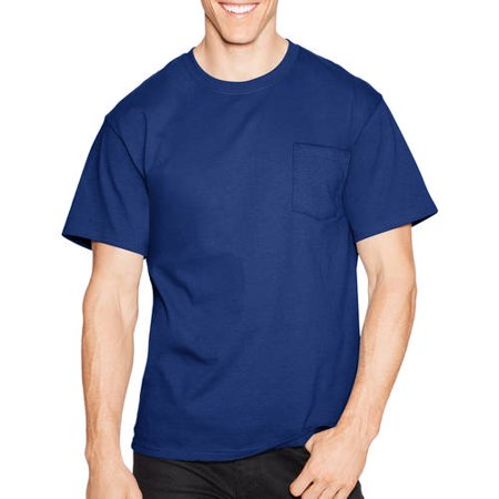 Men's Tagless Crew Neck Short Sleeve Pocket Tshirt ()