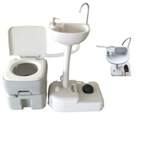 Ktaxon 20L Portable Outdoor Camping Toilet Porta Potty +  Removable Wash Basin for Outdoor Camping Hiking Travel