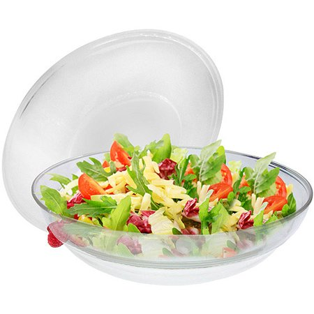 Decorative Salad Server - Gourmet Home Products Round Salad Server Over Ice with Lid