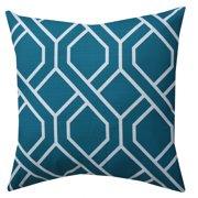 Mainstays Fret Decorative Throw Pillow Teal