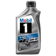 (6 Pack) Mobil 1 20W-50 Full Synthetic Motorcycle Oil, 1 qt.