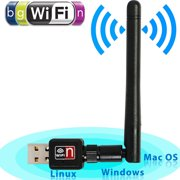 USB WiFi Adapter 2.4G 150Mbps Dongle Wireless Network Adapter Support IEEE 802.11b/g/n LAN Card w/Antenna