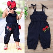 59c35cdaa34 Boutique Toddler Kids Baby Girls Strap Flower Romper Jumpsuit Playsuit  Outfit Clothes 1-6Y