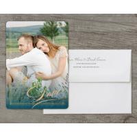 Personalized Wedding Invitation - Elegant Lines - 5 x 7 Flat Deluxe