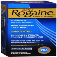 Rogaine Men's Extra Strength Unscented 2 oz (Pack of 2)