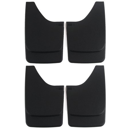 Premium Heavy Duty Molded Universal Mud Flaps Guards Splash Front and Rear Set - Leather Mud Flap