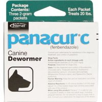 Panacur C Dewormer for Dogs, Three 2-Gram Packets 20 Pounds
