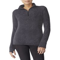 Climateright by Stretch Fleece Long Sleeve Mock Neck Half Zip Sleepwear Top