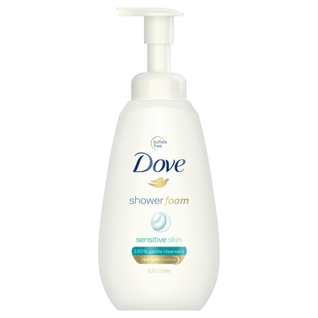 (2 pack) Dove Sensitive Skin Shower Foam, 13.5 oz ()