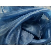 "Organza Fabric Roll 60"" Wide Quality Sheer Draping Crafts Wedding Fabric By Yard"", (Color: Royal Blue - Square Size: 100 Yards)"