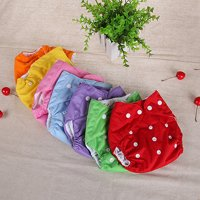 Girl12Queen 1 Pc Reusable Baby Infant Nappy Dotted Cloth Washable Diapers Soft Covers Adjustable