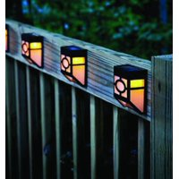 Pack of 4 Solar Powered Outdoor Landscape Warm Light for Garden Yard Fence
