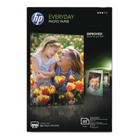 HP Everyday Glossy Photo Paper, 53 lbs., 4 x 6, 50 Sheets/Pack