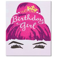 American Greetings Birthday Girl Birthday Card for Her with Glitter