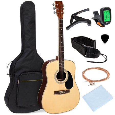 Best Choice Products 41in Full Size All-Wood Acoustic Guitar Starter Kit w/ Foam Padded Gig Bag, E-Tuner, Pick, (Best Guitar Under 2500)