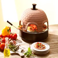 """Pizzarette – """"The World's Funnest Pizza Oven"""" – 6 Person Model with True Cooking Stone – Countertop Pizza Oven – Europe's Best-Selling Tabletop Mini Pizza Oven Now Available In The USA"""