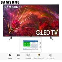 "Samsung QN75Q8FNB QN75Q8 QN75Q8F 75Q8 75"" Q8FN QLED Smart 4K UHD TV (2018 Model) with SmartThings ADT Home Security Starter Kit - (F-ADT-STR-KT-1)"
