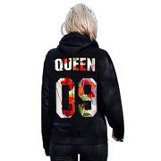 4c758d2067c King and Queen Couple Matching Hoodies Sweatshirts Pullover Hooded Jumper  Tops