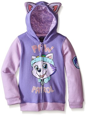 Paw Patrol Everest Costume Hoodie with 3D Ears (Little Girls)