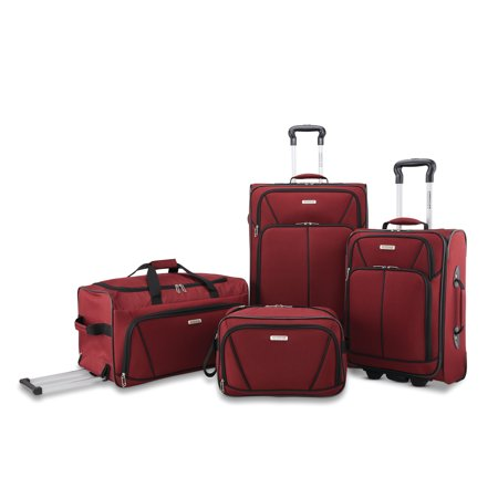 American Tourister 4 Piece Softside Luggage Set Ballistic Nylon Luggage Sets