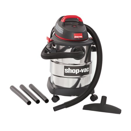 Steel Shop Vacuum (Shop-Vac, 6 Gallon 4.5 Peak HP Stainless Steel wet/dry)