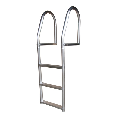 Steel Fixed Ladder - Dock Edge Eco Fixed Dock Ladder, Weld Free Aluminum