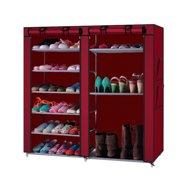 Zimtown DIY 6 Layer 12 Grid Shoe Rack Shelf Storage Closet Organizer Cabinet Lightweight 6 Layer 12 Grid W/ Cover