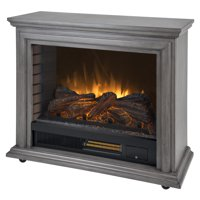 Pleasant Hearth Sheridan Mobile Infrared Fireplace - Dark Weathered Grey