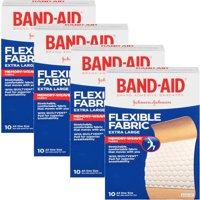 (2 Pack) Band-Aid Brand Flexible Fabric Adhesive Bandages, Extra Large, 10 ct