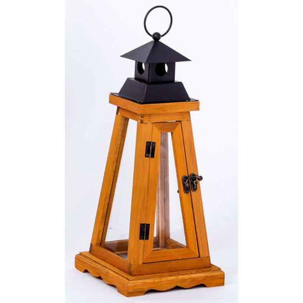 Better Homes & Gardens Woodworth Outdoor Wood Lantern (Small)