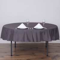 "Efavormart 90"" Round Polyester Tablecloth for Kitchen Dining Catering Wedding Birthday Party Decorations Events"