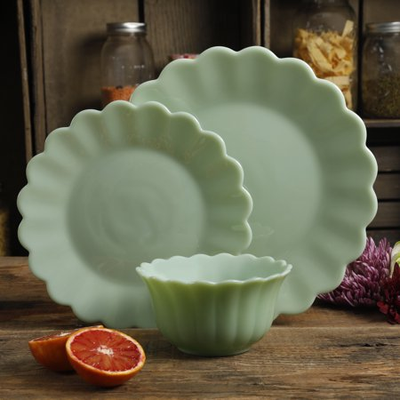 The Pioneer Woman Timeless Beauty Jade 3 Piece Dinnerware