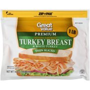 Great Value Premium Thin Sliced Honey Smoked Turkey Breast, 16 Oz.