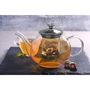 5ad0a8c6810 Moaere Glass Teapot Set Loose Leaf Tea Pot Good Kettles Clear Cup with  Strainer Infuser and