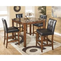 Signature Design by Ashley Theo 5 Piece Counter Height Dining Table Set