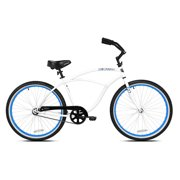 00745dcf47c Kent International 26 Inch Back Wheel Mens Kiawah Cruiser Street Bicycle,  White. Price