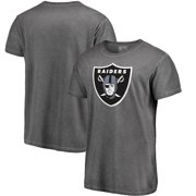 566828bc430 Oakland Raiders NFL Pro Line by Fanatics Branded Shadow Washed Logo T-Shirt  - Black