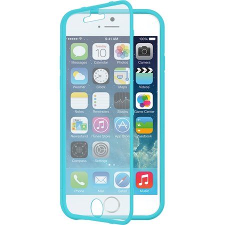 iPhone 6S case, iPhone 6 Case, by Insten Wrap Up Rubberized Hard Snap-in Case Cover w/Screen Protector For Apple iPhone 6 Blue Hard Rubber Case