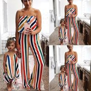 d07f83d1a76e Urkutoba Family Dress Jumpsuit Mother and Daughter Matching Girls Daughter  Outfits Clothes Dress