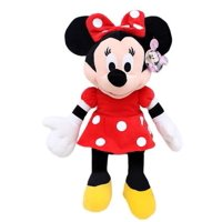 "Plush - Disney - Minnie Mouse Red Polka Dot Dress 15"" Toy Doll New 105265"
