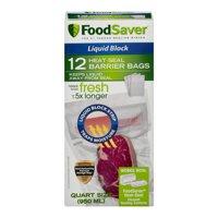 FoodSaver Liquid Block Vacuum Heat-Seal Barrier Bags (12 Count)