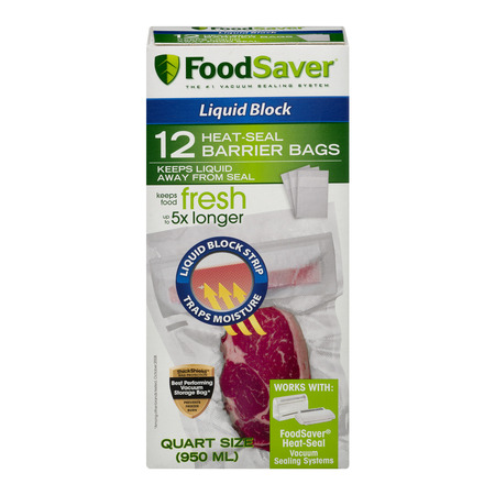 FoodSaver Liquid Block Vacuum Heat-Seal Barrier Bags (12 Count) (Heatseal Bags)