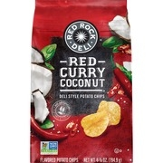 Red Rock Deli Style Potato Chips, Red Curry Coconut, 6.87 oz Bag