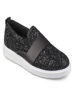 Women's Glitter Ribbon Slip-on Sneakers