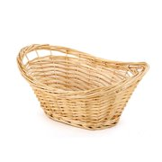 Generic Homezone Oval Split Willow Basket With Handles Natural