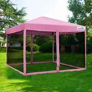 Quictent 8x8 Ez Pop Up Canopy Screen House Tent With Netting Patio Gazebo Mesh Side Wall
